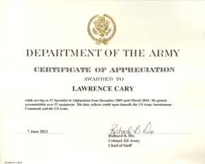 6+ Army Appreciation Certificate Templates – Pdf, Docx Throughout Retirement Certificate Template