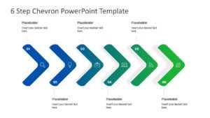 6 Step Chevron Powerpoint Template regarding Powerpoint Chevron Template