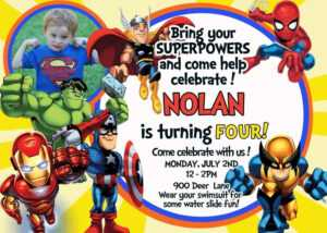 62 Adding Birthday Card Template Avengers Templates For with regard to Avengers Birthday Card Template
