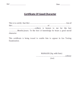 7+ Character Certificate Templates – Word Excel Samples intended for Good Conduct Certificate Template