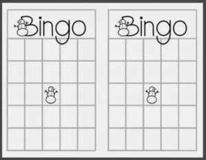74 Printable Christmas Bingo Card Template Maker pertaining to Blank Bingo Card Template Microsoft Word