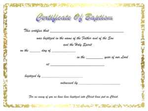 7558Ba8 Certificate Of Baptism Template | Wiring Resources Intended For Christian Baptism Certificate Template