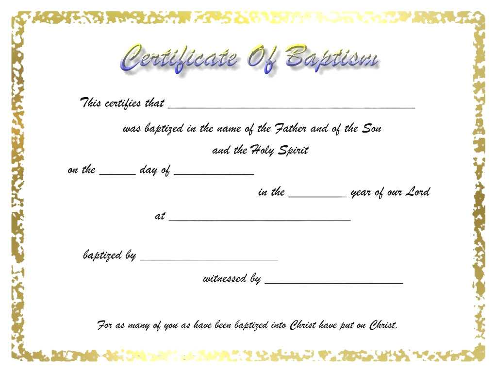 7558Ba8 Certificate Of Baptism Template   Wiring Resources Intended For Christian Baptism Certificate Template