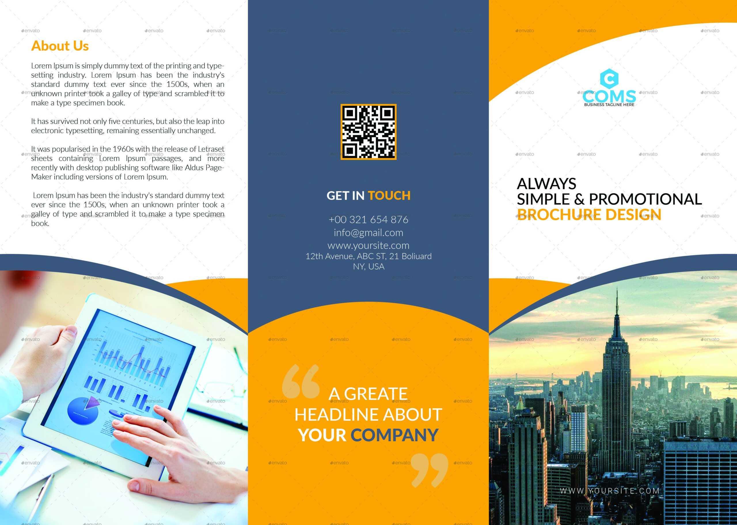 76+ Premium & Free Business Brochure Templates Psd To Within Single Page Brochure Templates Psd