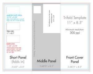 "8.5"" X 11"" Tri Fold Brochure Template – U.s. Press within Tri Fold Tent Card Template"