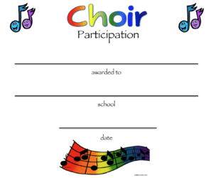 8+ Free Choir Certificate Of Participation Templates – Pdf for Choir Certificate Template