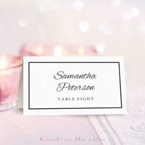 8 Free Wedding Place Card Templates regarding Table Reservation Card Template