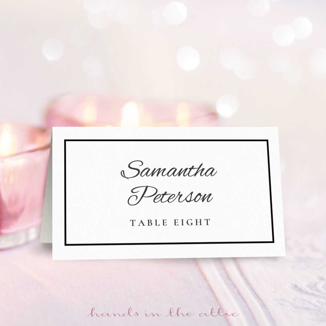 8 Free Wedding Place Card Templates With Regard To Table Name Cards Template Free