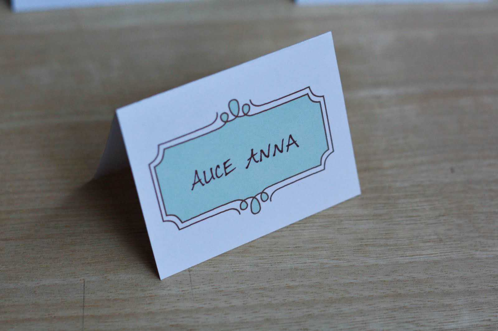 8 Free Wedding Place Card Templates Within Table Name Cards Template Free
