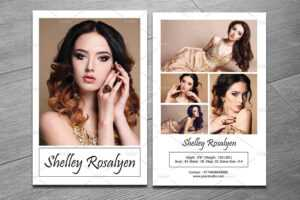 9 Comp Card Templates Free Sample Example Format Download throughout Download Comp Card Template