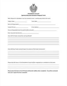 9+ Donation Application Form Templates Free Pdf Format with regard to Donation Cards Template