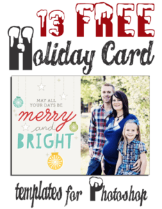 9 Free Christmas Card Psd Template Images – Free Photoshop for Free Christmas Card Templates For Photoshop