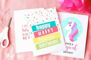 9 Free Printable Birthday Cards For Everyone in Quarter Fold Birthday Card Template