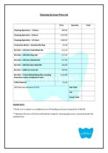 9+ Service Price List Templates Free Samples, Examples with regard to Rate Card Template Word