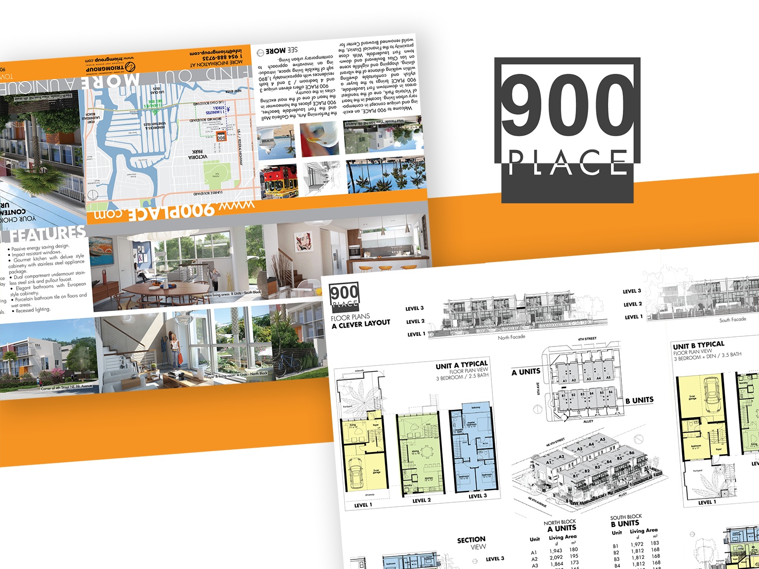 900 Place / 6 Panel Brochurevictor Suarez On Dribbble With Regard To 6 Panel Brochure Template