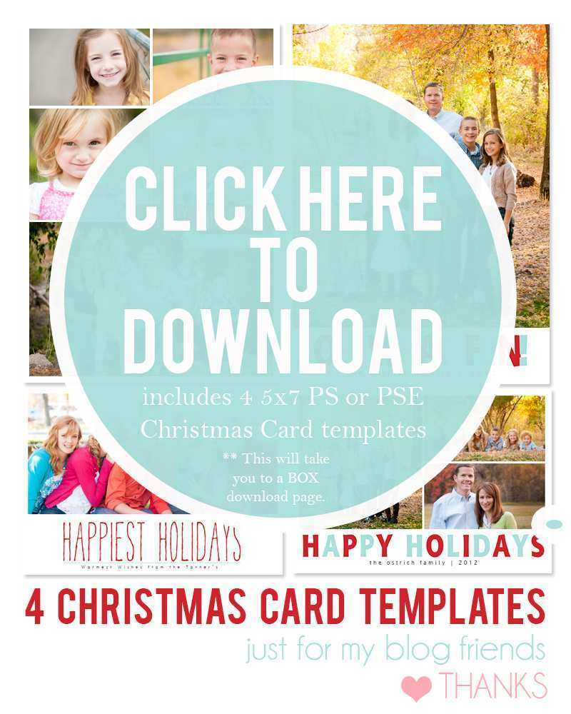 94 Customize Our Free Christmas Card Templates Photoshop Inside Free Christmas Card Templates For Photoshop