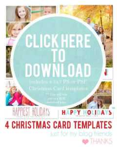 94 Customize Our Free Christmas Card Templates Photoshop throughout Christmas Photo Card Templates Photoshop