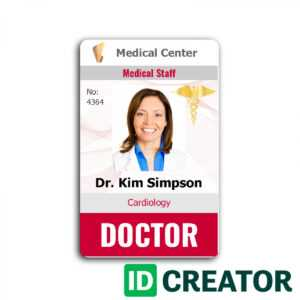 96 Customize Our Free Medical Id Card Template Word Now With regarding Free Id Card Template Word