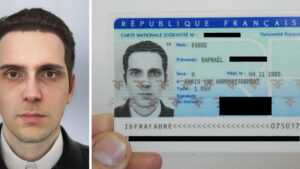 A French Artist Says He Received A National Id Card Using A intended for French Id Card Template