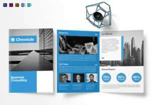 A4 Business Half Fold Brochure Template with Single Page Brochure Templates Psd