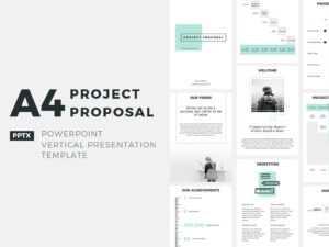 A4 Project Proposal Presentation Templatejetz Templates pertaining to Powerpoint Presentation Template Size