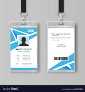 Abstract Blue Id Card Design Template within Id Card Template Ai