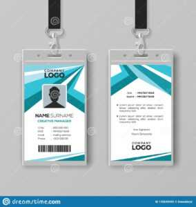Abstract Corporate Id Card Design Template Stock Vector inside Conference Id Card Template