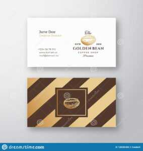 Abstract Elegant Vector Coffee Logo And Business Card regarding Coffee Business Card Template Free