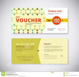 Abstract Gift Voucher Template Card. Business Voucher Card with Company Gift Certificate Template