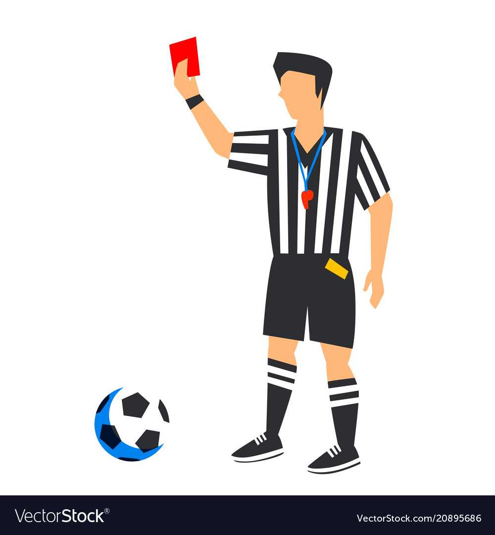Abstract In Blue Football Referee With Red Card Pertaining To Soccer Referee Game Card Template