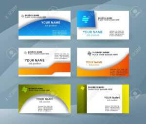 Abstract Professional And Designer Business Card Template Or.. regarding Professional Name Card Template