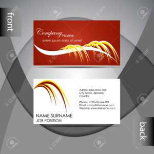 Abstract Professional Business Card Template Or Visiting Card.. with regard to Professional Name Card Template