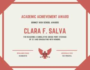 Academic Achievement Award Certificate – Templatescanva with regard to Certificate Of Attainment Template