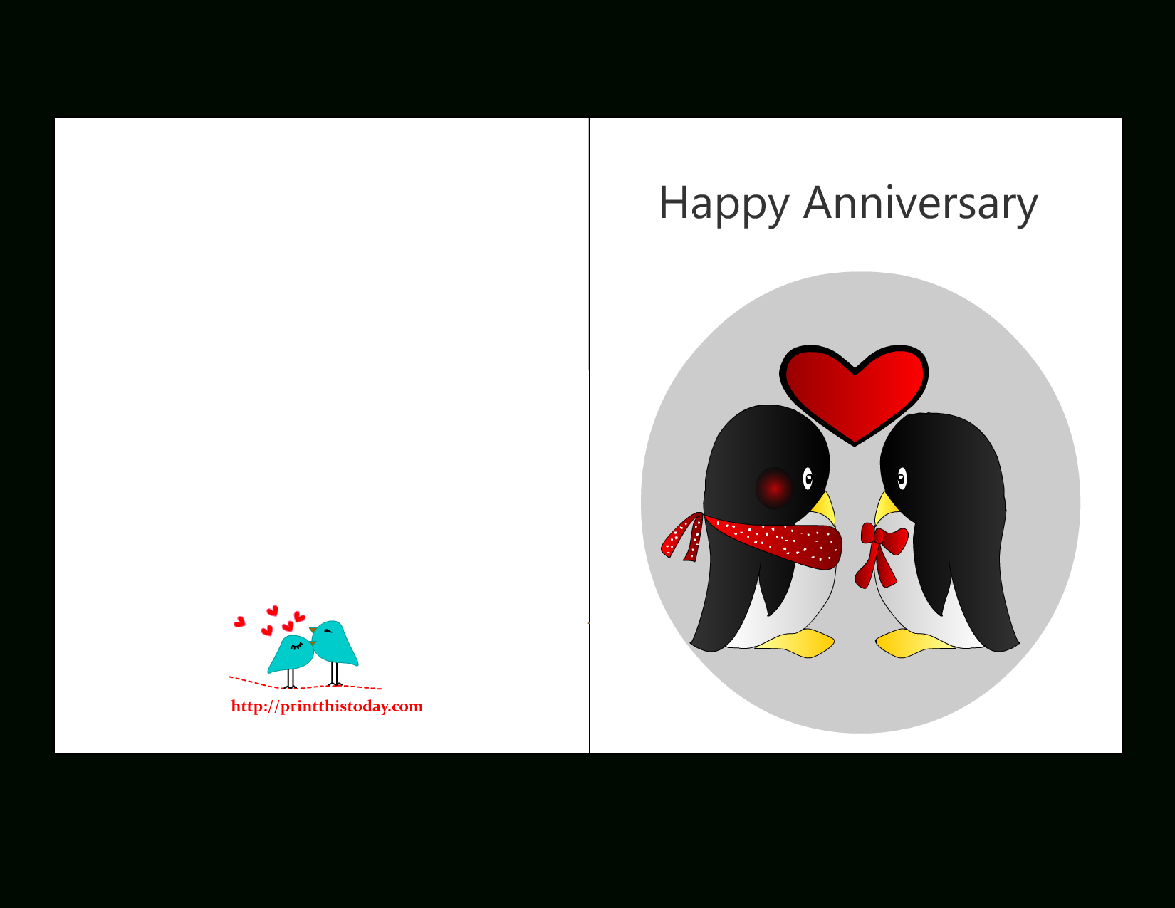 Accomplished Printable Anniversary Cards Free Online Inside Anniversary Card Template Word