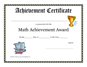 Acheive-Printable Student Awards with Student Of The Year Award Certificate Templates