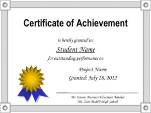 Achievement Certificate Template Free – Cerescoffee.co with Free Softball Certificate Templates