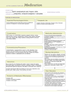 Active Learning Template Medication-2 – – Studocu in Pharmacology Drug Card Template