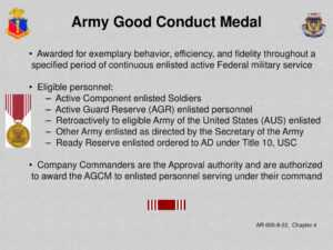 Adjutant General School Administer Awards And Decorations in Army Good Conduct Medal Certificate Template