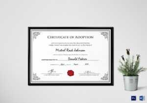 Adoption Birth Certificate Template in Birth Certificate Templates For Word