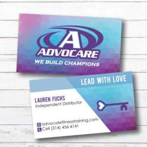Advocare Business Card | Geometric | Purple Blue | Lead With Love | Digital  File Only | Read Description Before Buying pertaining to Advocare Business Card Template