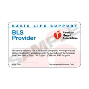 Aha Bls Provider Course Completion Cards – 24 Pack Worldpoint® in Cpr Card Template