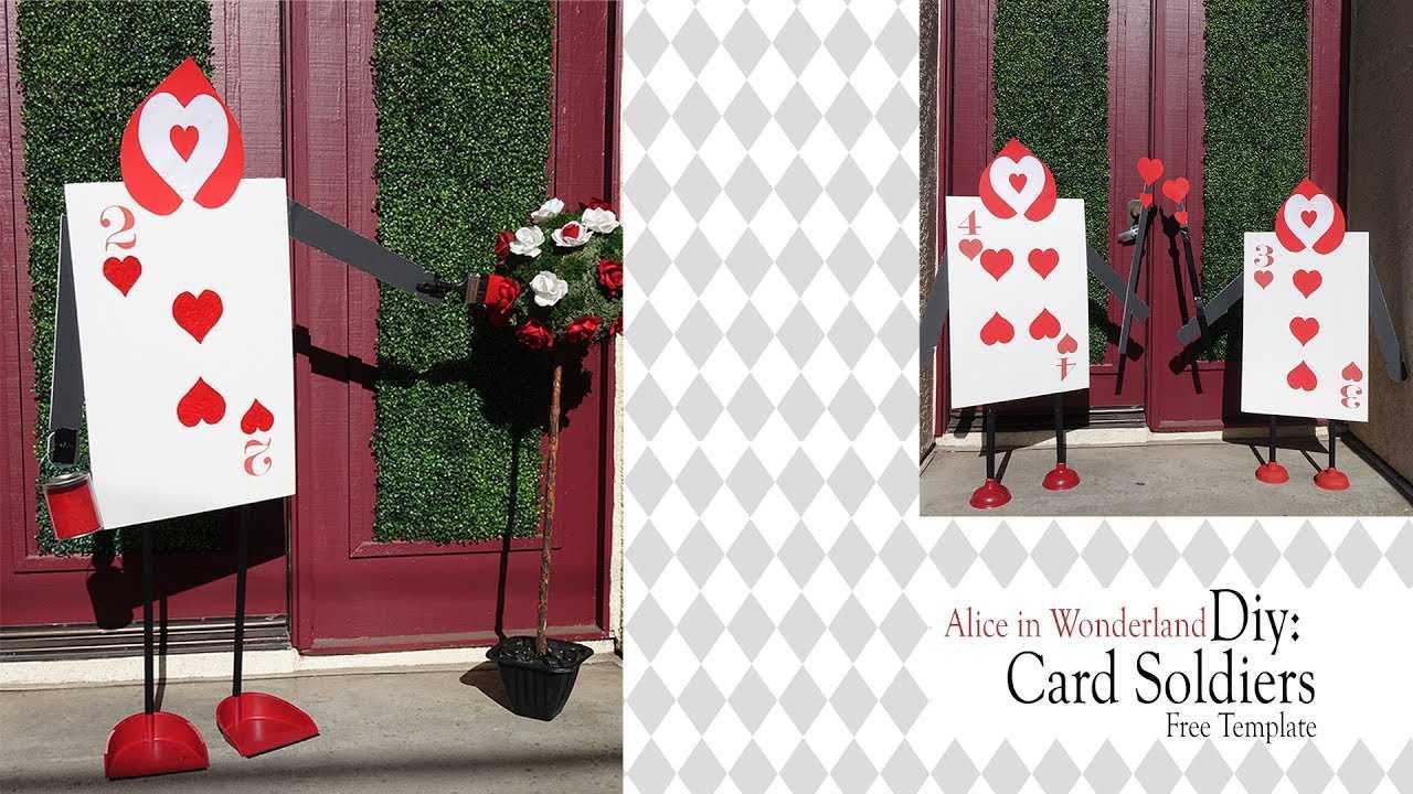 Alice In Wonderland Diy / Queen Of Heart Card Soldiers With Alice In Wonderland Card Soldiers Template