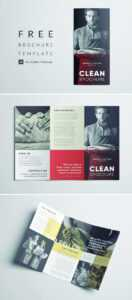 Amazing Clean Trifold Brochure Template | Free Download in Cleaning Brochure Templates Free