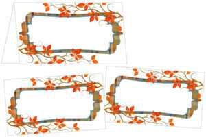 Amazing Cliparts | Name Card Clipart| (49) | Atypiques-Mag within Thanksgiving Place Card Templates