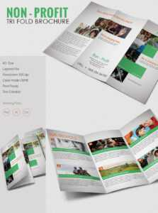 Amazing Non Profit A3 Tri Fold Brochure Template Download with regard to Ngo Brochure Templates