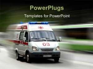Ambulance Powerpoint Templates W/ Ambulance-Themed Backgrounds in Ambulance Powerpoint Template