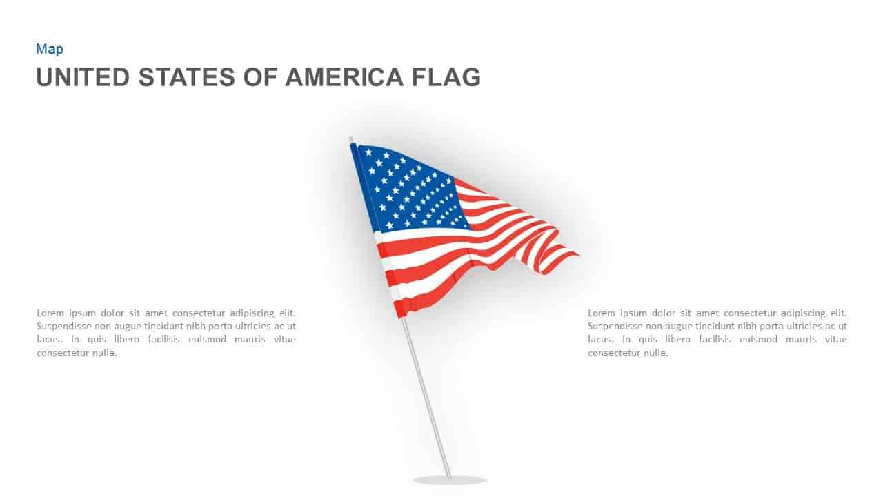 American Flag Powerpoint Template And Keynote Slide Regarding American Flag Powerpoint Template