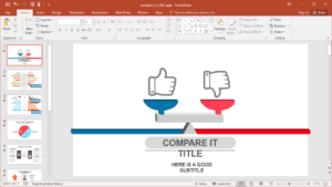 Animated Comparison Powerpoint Template pertaining to What Is A Template In Powerpoint