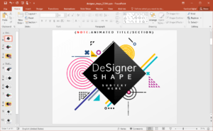 Animated Designer Shapes Powerpoint Template with Replace Powerpoint Template