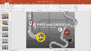 Animated Pipes Powerpoint Template within Powerpoint Presentation Animation Templates
